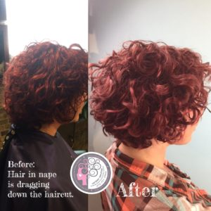 This Curly girl was so in love with her curly haircut service that she decided to go to school so she could become a Curly hair artist!