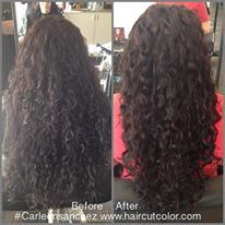 Reno, NV Curly hair specialist Carleen Sanchez Hair transformation.